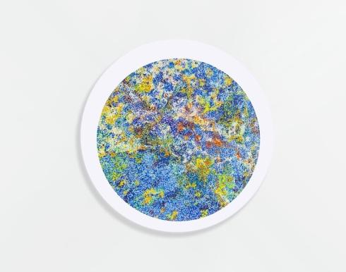 Florian Zyba, Suoni emotivi, acrilico su tela, 120x120 cm., 2013