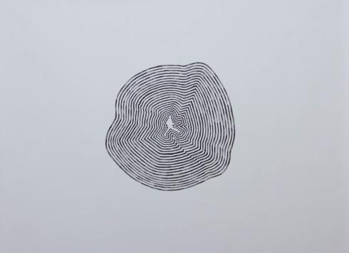 Hyeok Lee, Soldaato, acrilico su tela, 80x150 cm., 2014