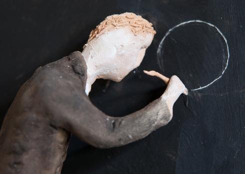 Pino Deodato, Preciso disegno secondo canoni della sezione aurea (dettaglio 2), 2014, installazione, 3 x 2 mt, Ph Tommaso Riva