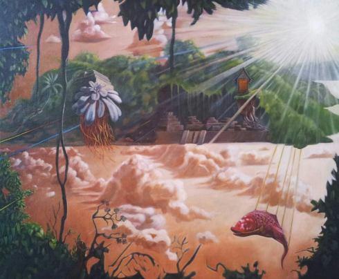 Carlo Cofano, Ri-Creazione, olio su tela-50x60 cm., 2013
