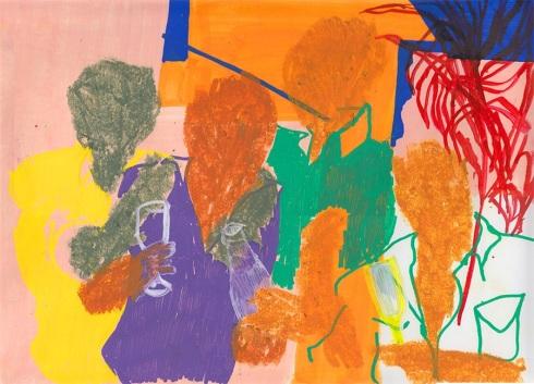 Stefania Ruggiero, #qualité, arkers e pastelli a olio su carta, 35x24 cm., 2014