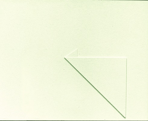 Rilievo 351, olio su pannello in legno, 25x30 cm., 1968