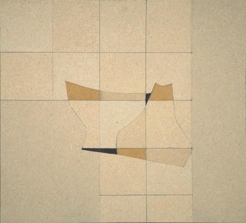 AC murale X.3., acrilico su pavatex, 34x37 cm, 1971
