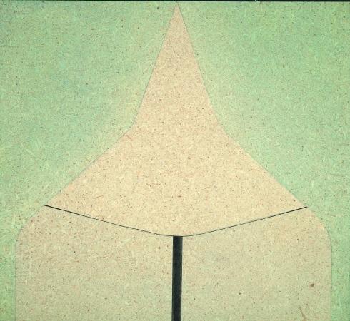 AC murale 113, 1972, cm 35x38, acrilico su pavatex