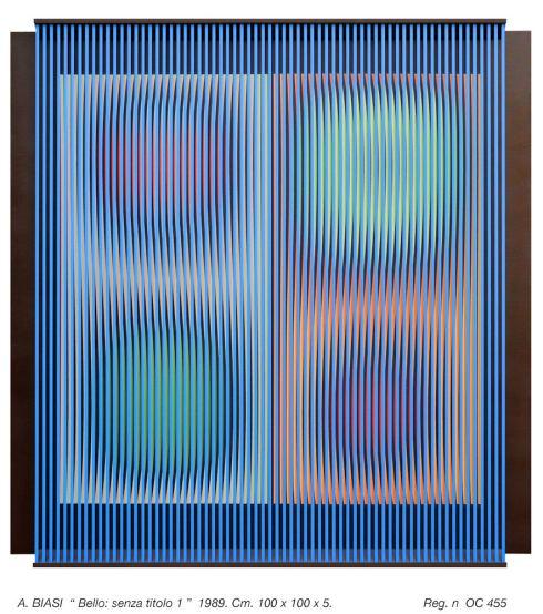 Senza titolo 100x100x5 cm., 1989