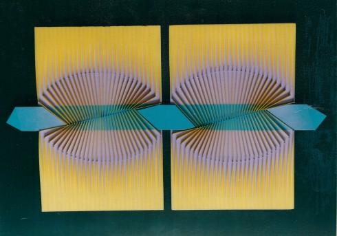 Attraverso la simmetria, politipo, 30x51 cm, anni 80