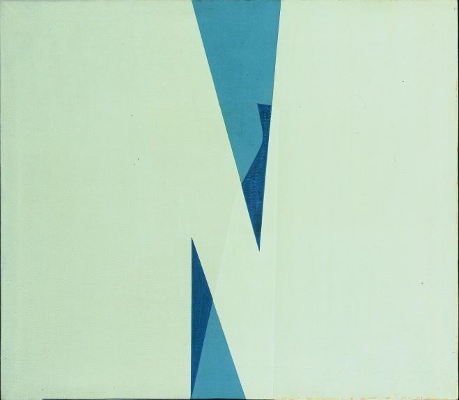Acrilico 1, 1970, cm 35x40, acrilico su tela