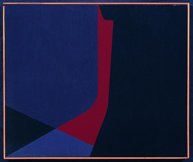 Composizione A 13, 1961, cm 46x55, olio su tavola