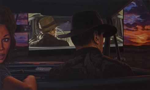 Eric White, Dead reckoning, 2014, olio su tela