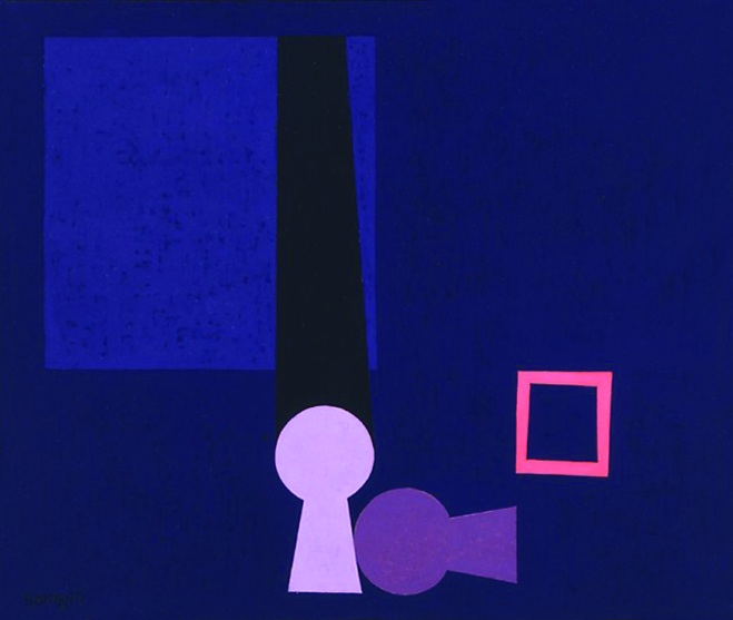 Intermezzo, 1959, cm 46x55, olio su tavola