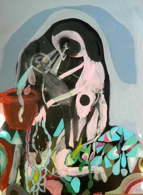 Silvia Argiolas, Madre tecnica mista su tela, 30x40 cm., 2014