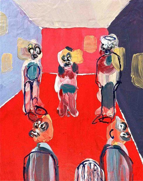 Adriano, Annino, Noi siamo parete, tecnica mista su tela cm 18x24