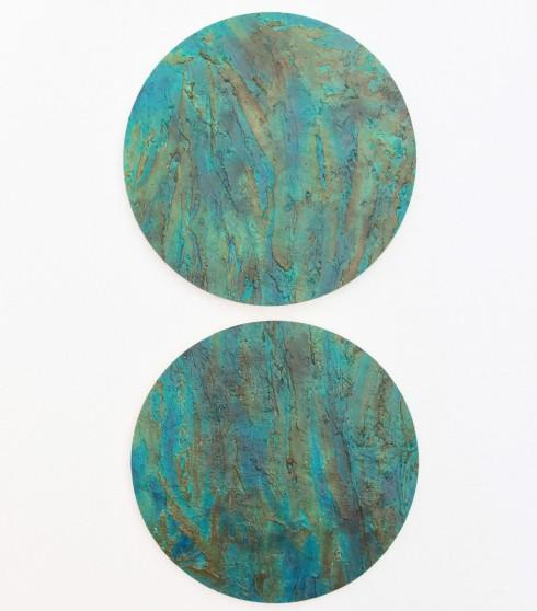Alternate World,  olio, acrilico, resina, gesso su Polistirolo, 125x59cm, 2014