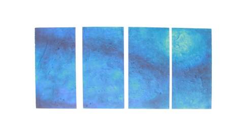 Blue Moon, olio, acrilico, resina, gesso su Polistirolo, 135x60cm, 2014