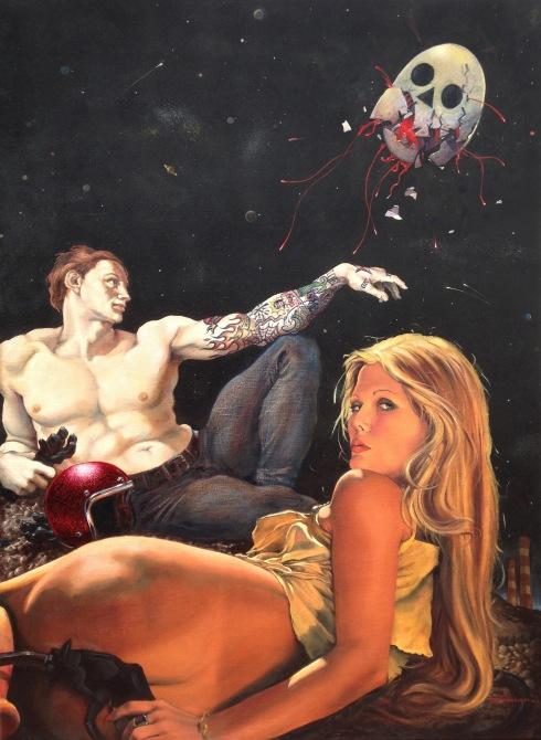 Damian Fulton, Adam's Rib Damian, 2014, oil on canvas, 36x46 inch