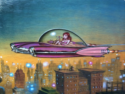 Keith Weesner, Glamour Jet, 2014, acrylic on wood, 23x30,5 cm