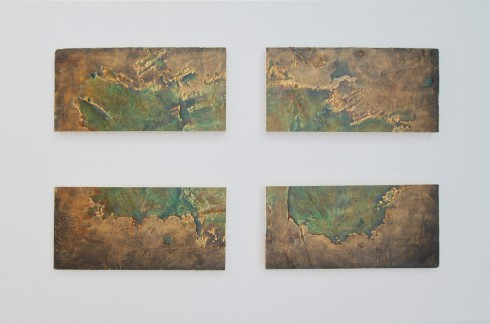 On the Edge, olio, acrilico, resina, gesso su Polistirolo, 140x80 cm., 2014