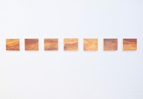 Once upon a time, olio, acrilico, resina, gesso su Polistirolo, 165x15cm, 2014