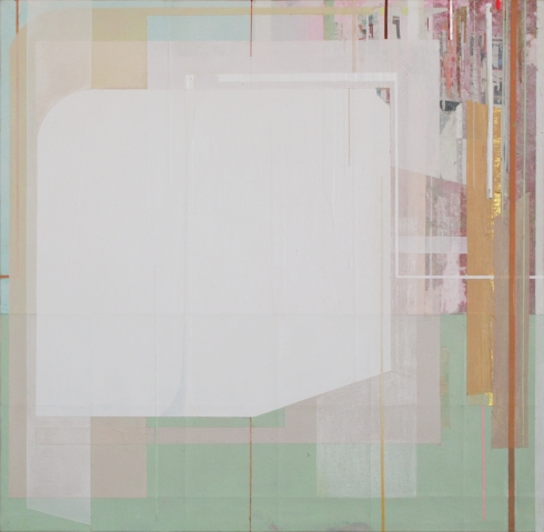 Viviana Valla, Bi-polar, 2014, tec.mista su tela, 30x30cm