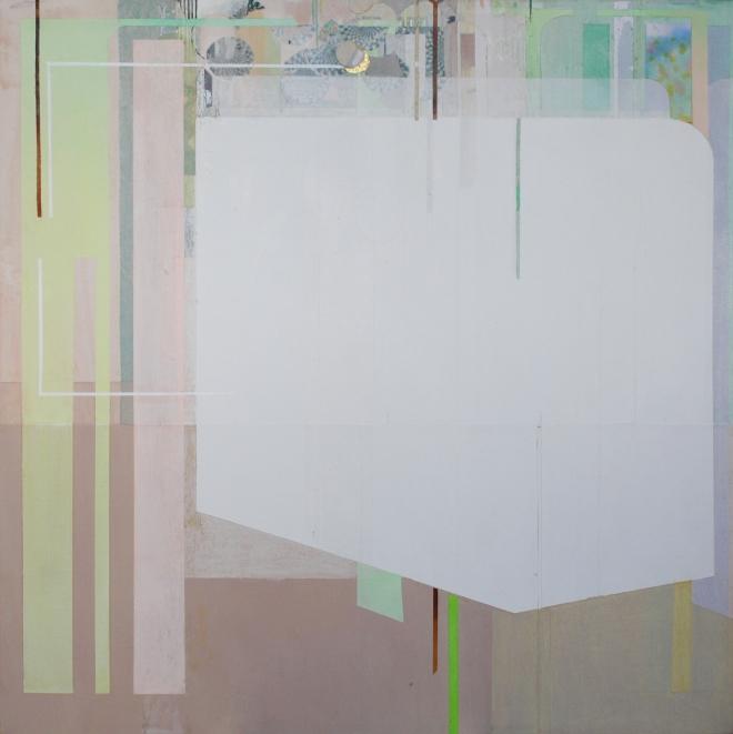 Viviana Valla, Cold breeze, 2014, tecnica mista su tela, 30x30cm