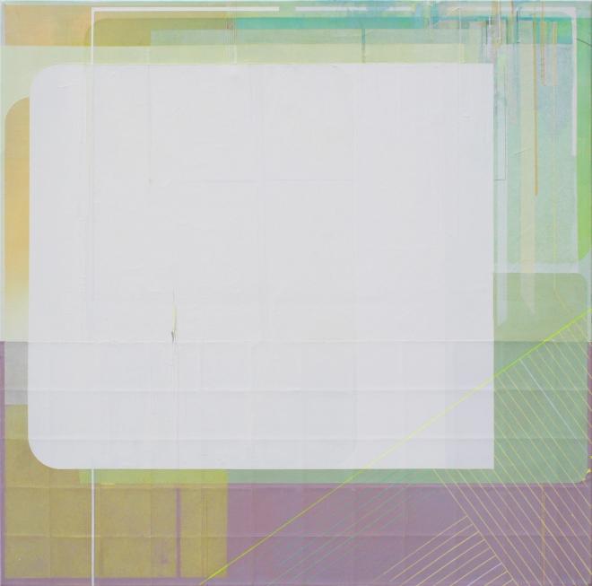 Viviana Valla, De-constriction, 2014, Tec.mista su tela, 60x60cm