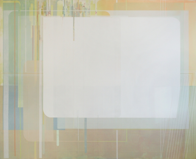 Viviana Valla, This is th where, 2014, Tecnica mista su tela, 130x160cm
