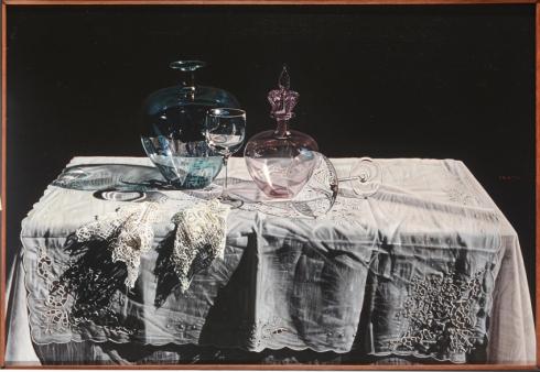 Tovaglia metafisica,olio su tela, 55x80, cm., 2009