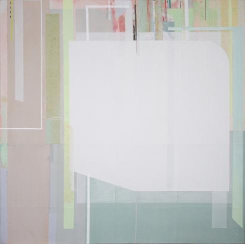 Viviana Valla, Tropical geometry, 2014, Tec.mista su tela,30x30cm