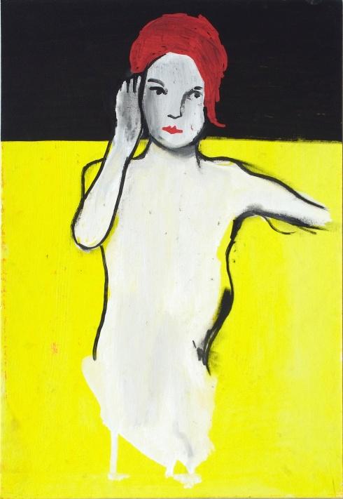 Valentina Chiappini, Listen, tecnica mista su cartone telata, 38x25 cm, 2014
