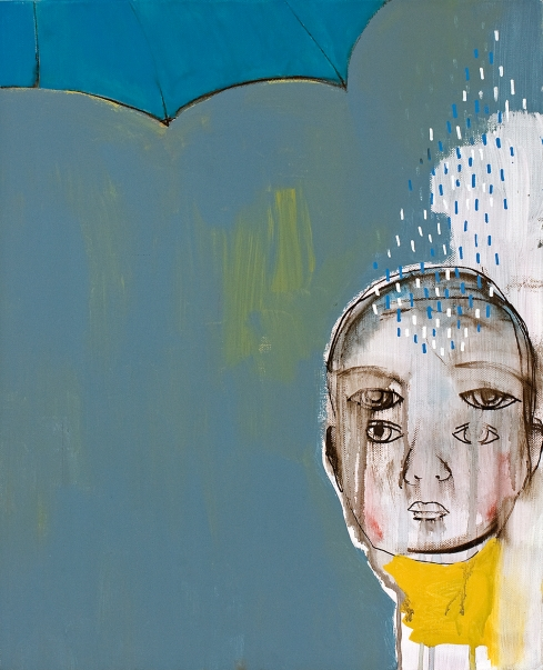 Valentina Chiappini, Rain Inside, tecnica mista su tela, 50x40 cm, 2014