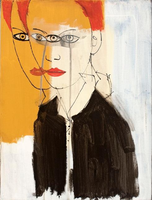 Valentina Chiappini, Senza titolo, tecnica mista su tela, 40x30 cm, 2014