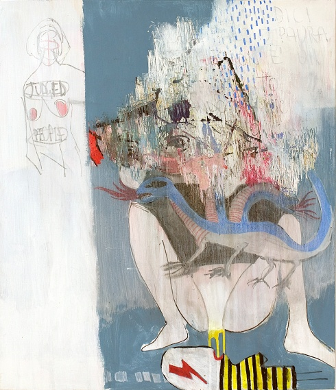 Valentina Chiappini, Sexual abuse of a child, tecnica mista su tela, 60x50 cm, 2014
