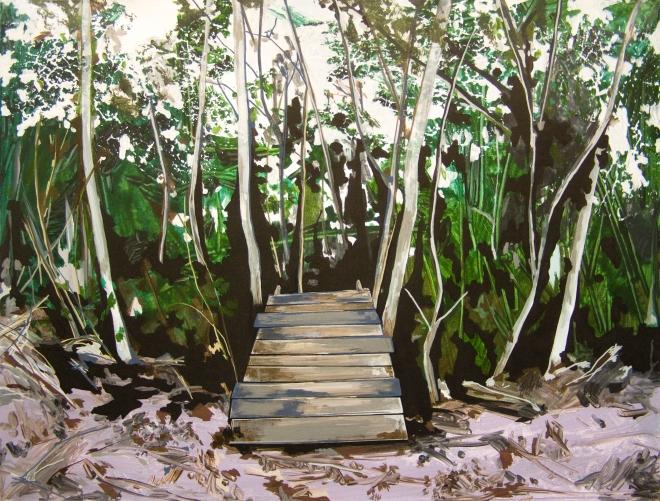 Annalisa Fulvi, Geometrie Rurali 7, acrylic on canvas, 60x80 cm, 2014