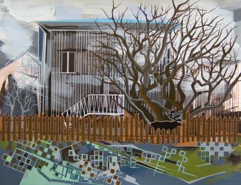 Annalisa Fulvi, Sinonimi per una pittura insulare, acrylic on canvas, 55x70 cm, 2014