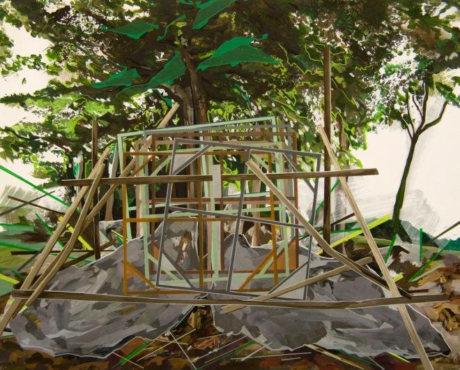 Annalisa Fulvi, Geometrie Rurali 8, acrylic on canvas, 80x100 cm, 2014