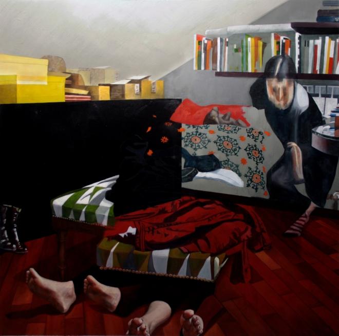 Dario Maglionico, Reificazione #3, oil on canvas, 107 x 107 cm, 2014