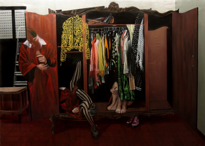 Dario Maglionico, Reificazione #5, oil on canvas, 132 x 188 cm, 2014