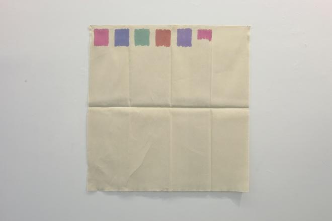 Giorgio Griffa, Pennello piatto, 1970, acrilico su cotone/acrylic on canvas, cm 101x98