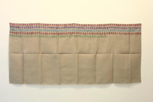 Giorgio Griffa, Senza titolo, 1972, acrylic on  mute, cm 100x227