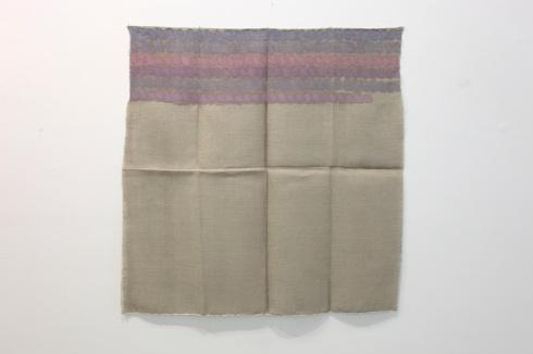Giorgio Griffa, Senza titolo, 1973, acrilico su juta, cm 100x97