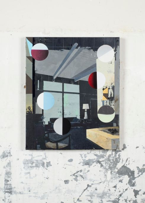 Paolo De Biasi, Untitled, acrylic and collage on canvas, 60x50 cm, 2015