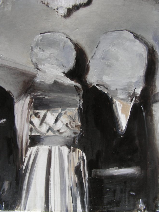Valerio Melchiotti, Song from Mars, oil on canvas 30x40 cm,  2015