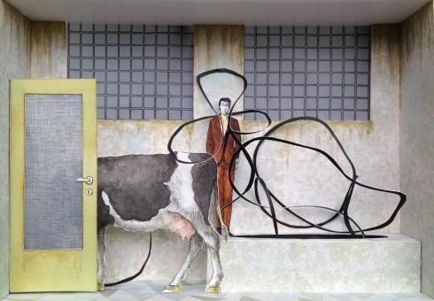 Monolocale 5, anno 2015, tecnica mista, cm 21x30