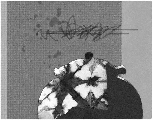 Lu Zhiping, Vase or Not II, 2007, silkscrren print, 51x65 cm.