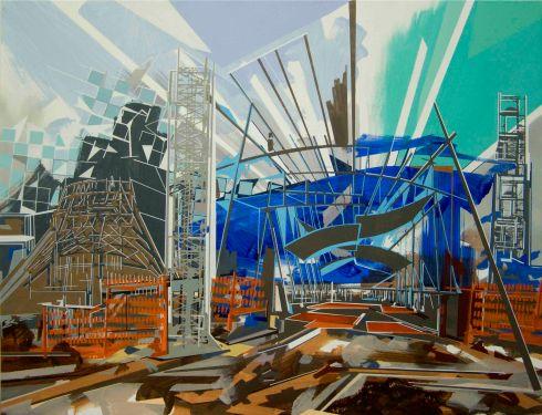 Aria di Expo, acrilico su tela, 100x130 cm., 2015