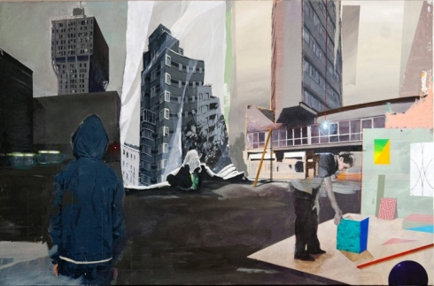 Paolo De Biasi, Eccetera, eccetera, 2015, acrilico su tela, 106x150 cm