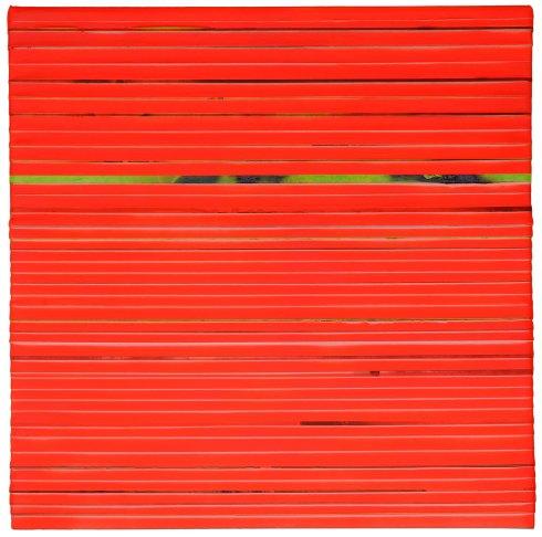 Orange, 2015, acrilico su nastro carta su tela 70x70 cm.