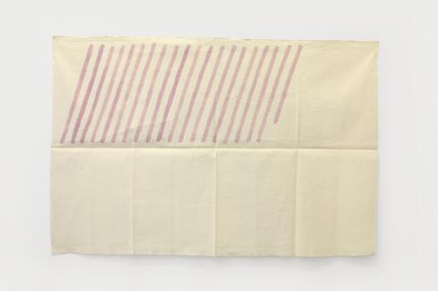 Giorgio Griffa, Obliquo, 1978, acrilico su cotone, cm 100x150