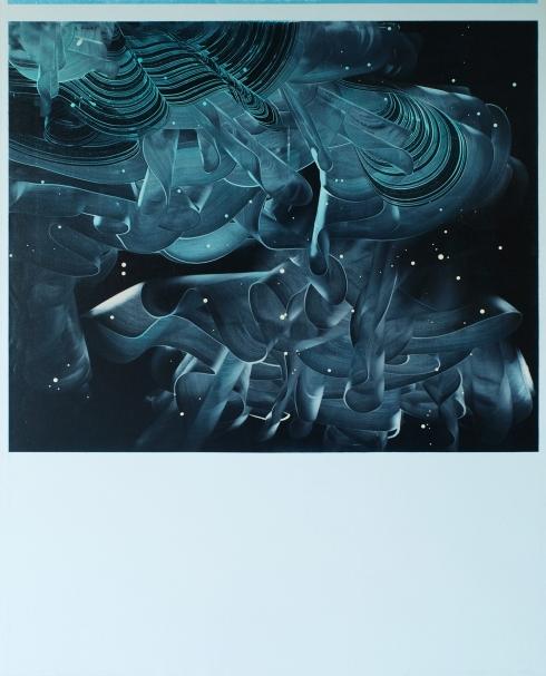 Torque Torquoise, 2012, olio e alchidico su tela, 150x120 cm.