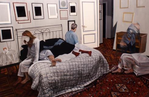 Dario Maglionico, Reificazione #10, oil on canvas, 117 x 180 cm, 2015
